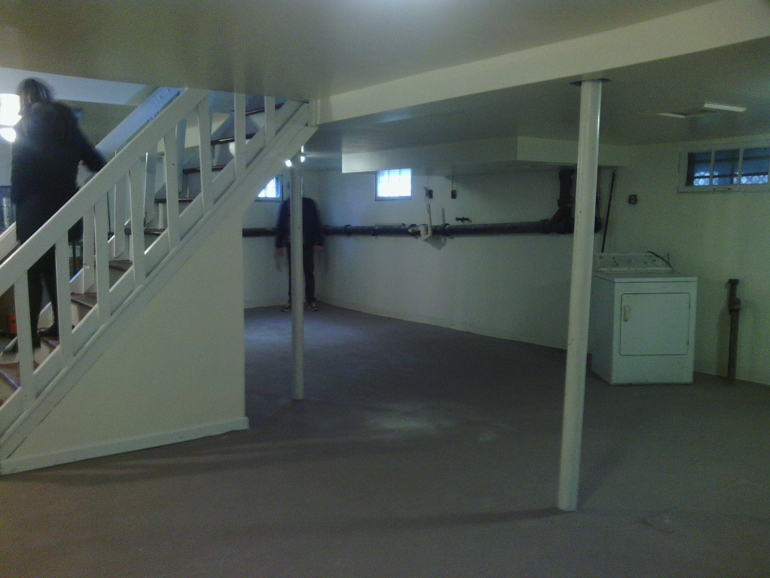 Our new basement.  This is clearly where the disco parties are going to happen.
